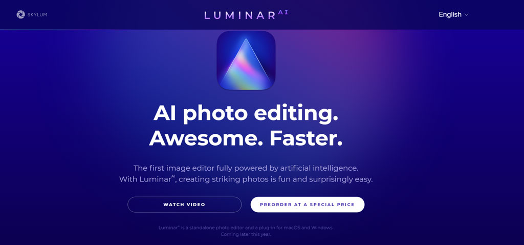 Luminar 4 ai photo editing tool