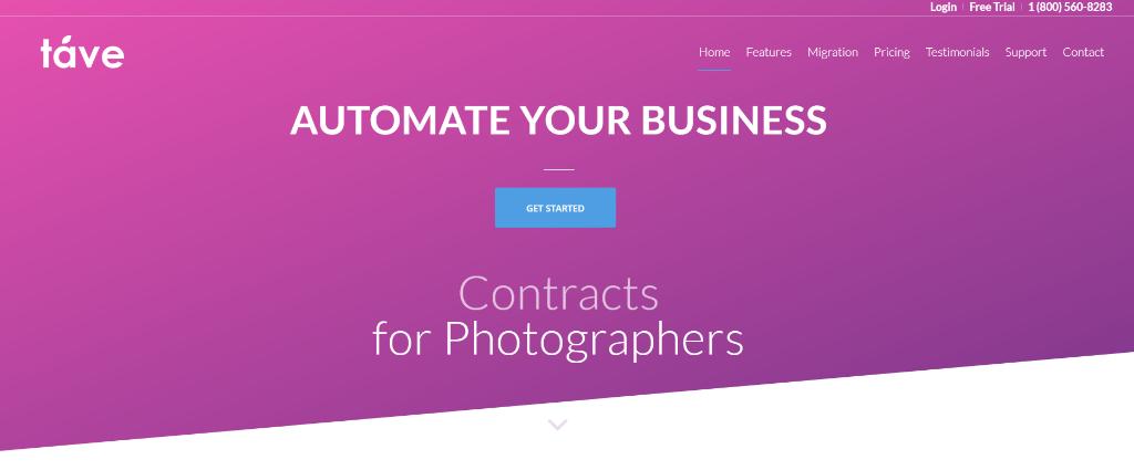 Tave Photography Studio Management Software