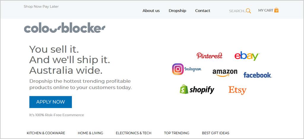 drop shipping with colourblocker