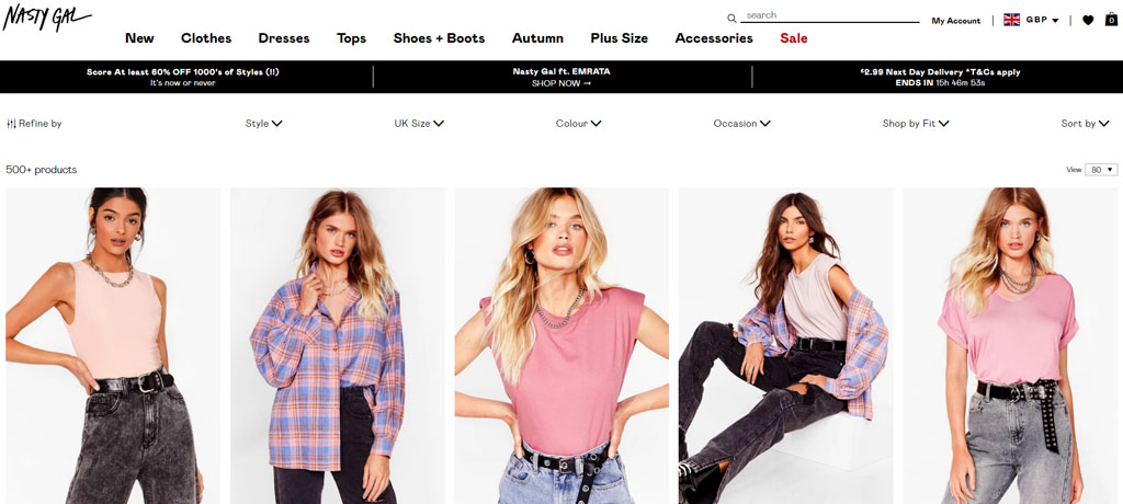 eCommerce Product Filtering