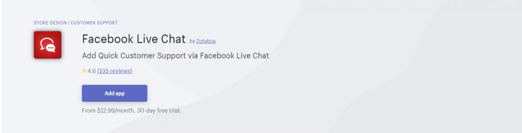 Top shopify apps 2020 Facebook live chat