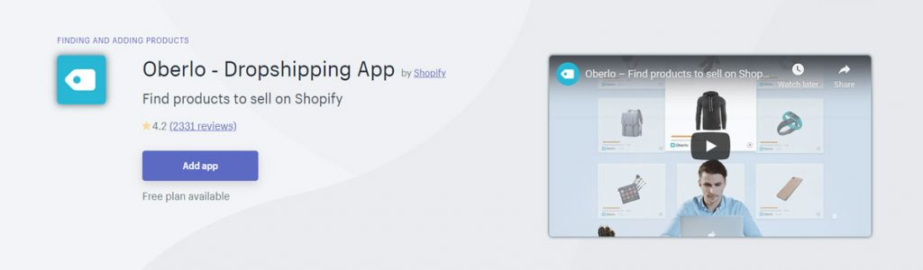 Top shopify apps 2020 Oberlo